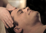 Image of Indian head massage session.