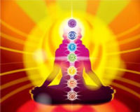 Image of chakras in human body.